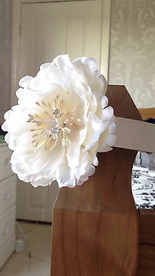 White leather flower dog wedding or house collar