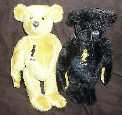 Dean's Teddy Bear Pair Golden Dawn & Nightfall - L/e 2000  New In Box With Tags