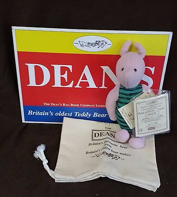 Dean's Mohair Piglet Pig - Pooh & Friends 12 Series - New In Box With Tags