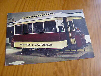 TPT012 - Postcard - Horse Tram, Corporation of Chesterfield