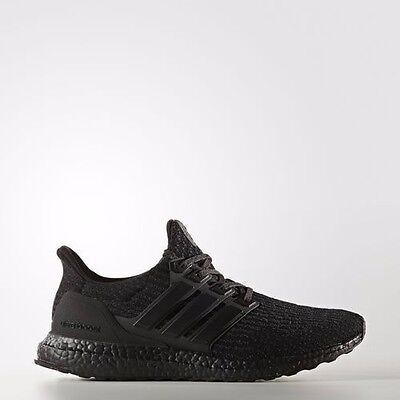 ADIDAS ULTRA BOOST TRIPLE BLACK 3.0 Trainers shoes 2017 NEW size UK11.5