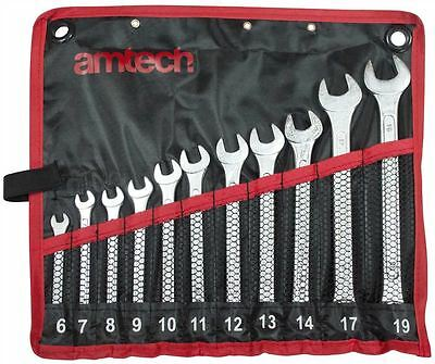11pc High Quality Combination Spanner Set 6-19mm + Storage Pouch