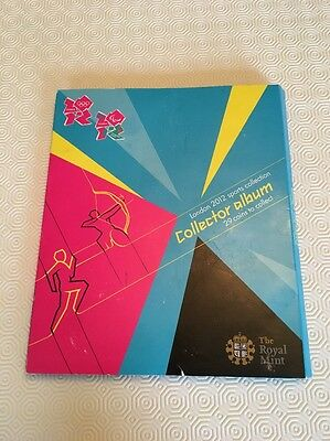 50p Olympic London 2011 2012  Coin Collector Album Royal mint - Album Only