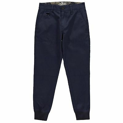 Airwalk Ragazzo Junior Pantaloni Da Jogging Intessuti Jogger Cotone Zip Bottone