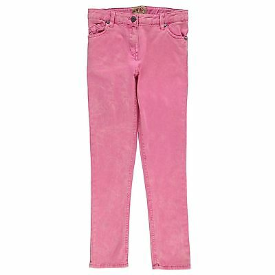 French Connection Ragazza Junior Jeans Fluorescenti Pantaloni Denim Tasche Zip