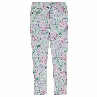 French Connection Ragazza Junior Skinny Jeans Pantaloni Stampa Floreale 5 Tasche