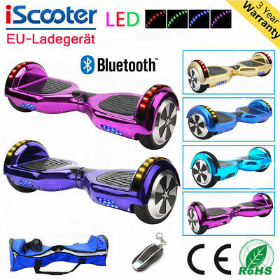 "6,5""/8"" Patinete Eléctrico Scooter self balancing Monociclo overboard +Bluetooth"
