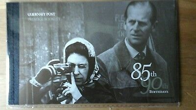 Guernsey - 2011 Royal Birthdays (Queen & Prince Philip) Prestige Booklet