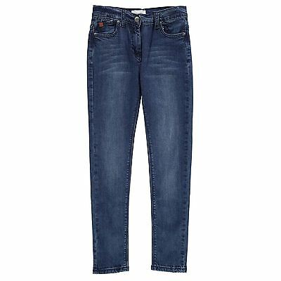 French Connection Ragazza Jeans Slavati Tasche Pantaloni Denim Vita Regolabile