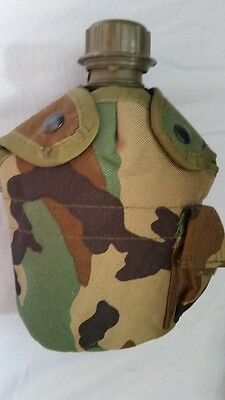 Military 1 Quart Canteen With Camo Cover