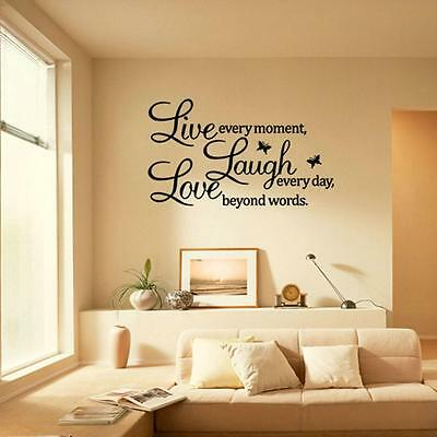 Pegatina Adhesivo Vinilo Sticker Negro Decor de Pared Letras Removible 23.5*70CM