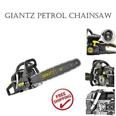 Giantz 58CC 2 Stroke Petrol Chainsaw w/Carry Bag and Safety Set Tree Pruning Saw
