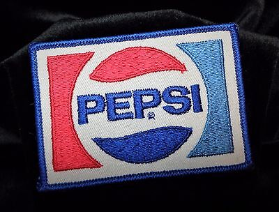 "Vintage Pepsi Patch with Embroidered Logo 4"" x 2.75"""