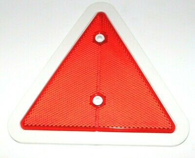 Red Reflector Triangles Pack of 2 White Surround Car Trailer Caravan Tailboard