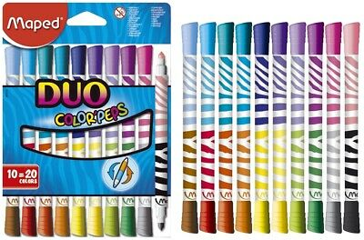 MAPED Filzstift Color'Peps Long Life Duo, 4,75 mm, farbig , 10  St.