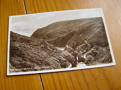 TOP2703 - Real Photo Postcard - Valley of Petit Bot, Guernsey