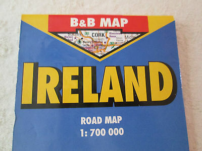 B&B Travel Road Map ~ IRELAND ~ Laminated, Insets for Cork, Dublin, Wicklow Mtns