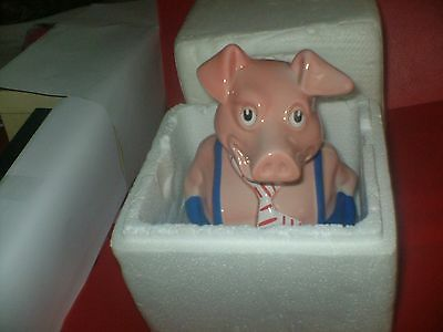 NATWEST PIG  MAXWELL with BOX  MADE BY WADE WITH ORIGINAL STOPPER.