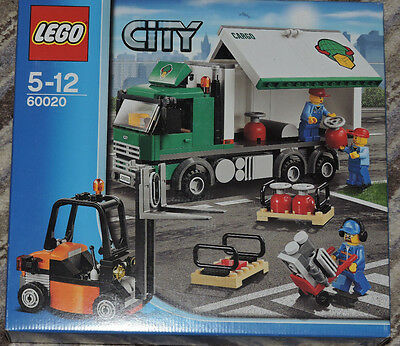 Lego City Cargo Truck Set 60020 box and instructions
