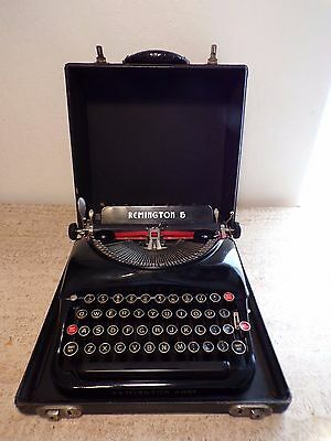 Working Antique Remington 5 Streamline Art Deco Portable Manual Typewriter &case