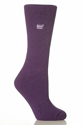 1 Pair Ladies / Men GENUINE Thermal Heat Holders Socks size 6-11 Uk 39-45 Purple
