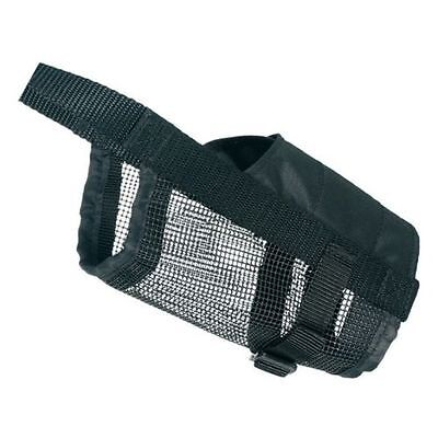 New Trixie Adjustable Dog Muzzle With Net Insert Polyester - 5 Sizes S/SM/M/L/XL