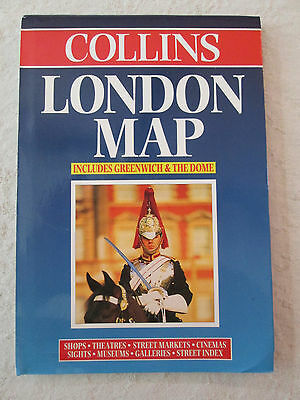 Collins City Road Map ~ LONDON ~ Street Markets, Museums, Galleries w/ Index