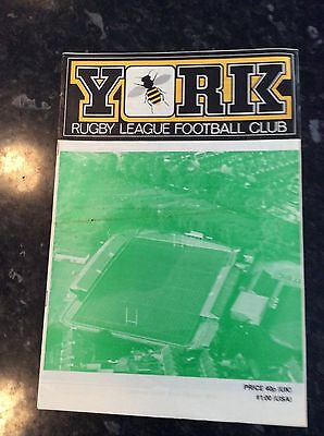 York Brochure 1868 To 1980 Celebration