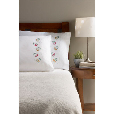 """Stamped Embroidery Pillowcase Pair 20""""X30""""-Daisy Bouquet 46063"""
