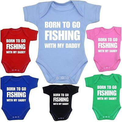 BabyPrem Baby Clothes Funny FISHING Bodysuit One-Piece Vest Shower Gifts Slogan