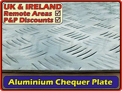 Aluminium Chequer Plate (5 bar sheet square rectangular)| 2mm 3mm | 300mm 600mm