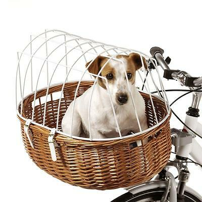 HANDMADE Pet Dog Bicycle Wicker BASKET Transport Equipment Ride Journey Trips