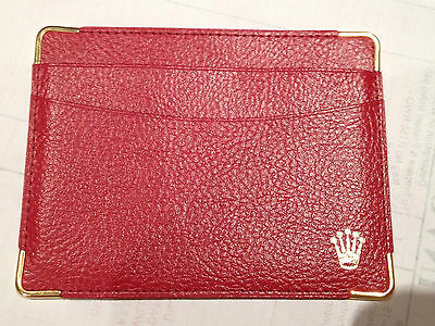 Rolex Red Credit Card Wallet 101.60.55