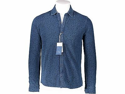 POLO CAMICIA - ALTEA - art.1654052 - col.INDACO FANTASIA - SCONTO 70%