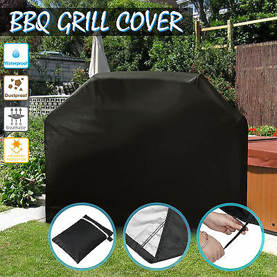 BBQ Cover Heavy Duty Waterproof Rain Snow Barbecue Grill Outdoor Protector 145cm