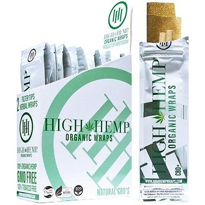 High Hemp Organic Wraps Full Box 25 (2 Wrap) Pouches 50 Wraps