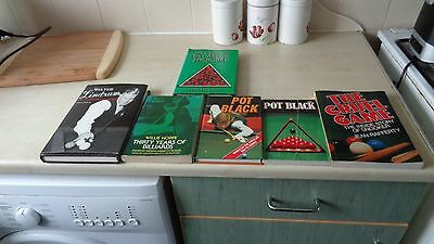 Selection Of Snooker Books Including Books By Clive Everton