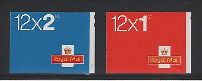 1st & 2nd CLASS   BARCODE BOOKLETS OF ROYAL MAIL MINT STAMPS FREE P&P
