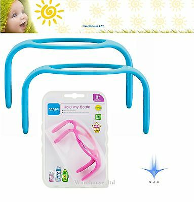 MAM Hold My Bottle Handles for Use with MAM Bottles and Trainer Bottle Pink/Blue