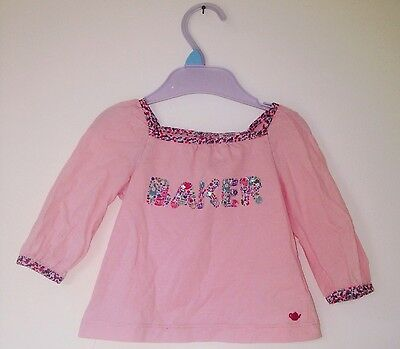 Baby Girls Pink Ted Baker Top 3-6 Months