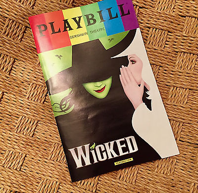 WICKED Pride Week 2017 Playbill FREE SHIPPING