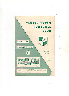 1963/4  Yeovil v Southend (FAC)
