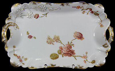 LIMOGES HAVILAND H&C L - Platte SERVIERPLATTE Prunkplatte - Flowers & Seeds