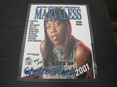"MARVALESS ""Ghetto Blues 2001"" promotional Adverstisement 9"" X 12"" Bay Area"
