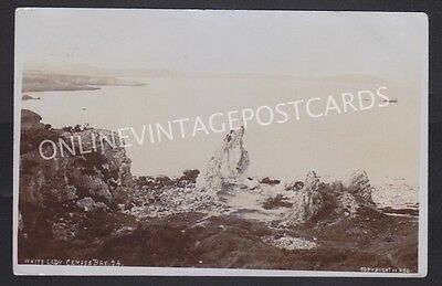 Anglesey White Lady Cemaes Bay Wright & Co Real Photo