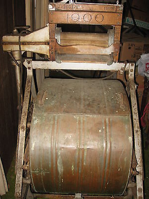 "Antique Washing Machine ""1900 Cataract"" Binghamton, NY Copper Tub Cast Iron"