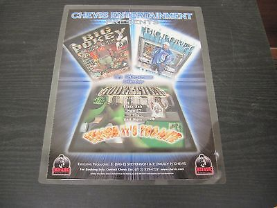 "BIG POKEY Chevis Entertainment promotional Adverstisement 9"" X 12"" Houston Texas"