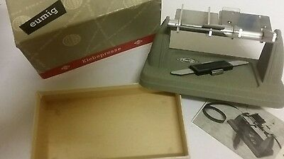 EUMIG FILM SPLICER NEW OLD STOCK WITH BOX, INSTRUCTIONS etc