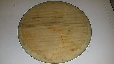Vintage Style Wooden Bread Board 12 Inches Diameter. Maybe Unused No Knife Marks