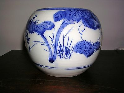 Antique Chinese Canton Ginger Jar - Blue & White